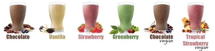 SuperSampler flavors shakeology