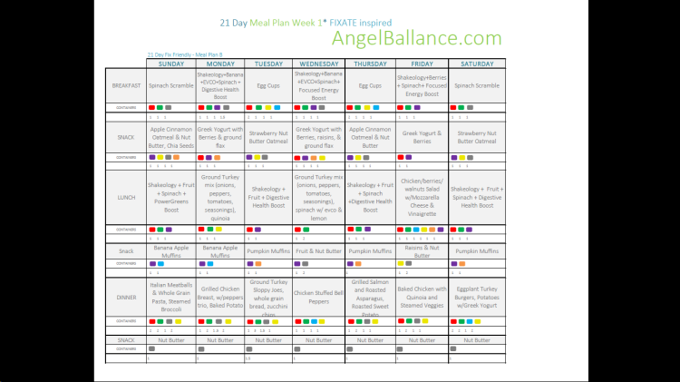 21 Day Meal Plan Week One