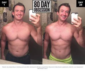 brad 28 day results 80 day obsession