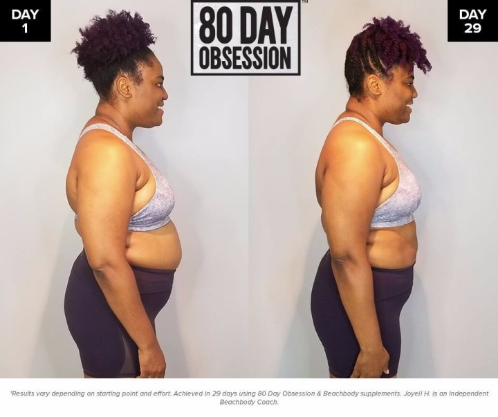 joyell 29 day results 80 day obsession